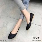 รองเท้าคัทชู ส้นแบน สวยเรียบเก๋ หนังนิ่ม ทรงสวย ใส่สบาย แมทสวยได้ทุกชุด (K3146)