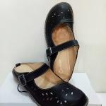 รองเท้าคัทชู เปิดส้น สวยน่ารัก หนัง PU นิ่มอย่างดี แต่งฉลุลายและตะเข็บเก๋ๆ พื้นบุนิ่ม ใส่ สบาย แมทสวยได้ทุกชุด