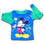 เสื้อ สีน้ำเงิน-เขียว ลาย Mickey Mouse 3T