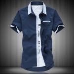 พรีออเดอร์ เสื้อเชิ้ต แขนสั้น M - 7XL อกใหญ่สุด 55.11 นิ้ว แฟชั่นเกาหลีสำหรับผู้ชายไซส์ใหญ่ แขนสั้น เก๋ เท่ห์ - Preorder Large Size Men Korean Hitz Short-sleeved T-Shirt