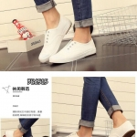 รองเท้าผ้าใบแฟชั่น สวยเก๋ ดีไซน์แบบไร้เชือก ทรงสวยใส่สบาย แมทเก๋ได้ทุกชุด (BE6511)