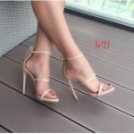 รองเท้าแฟชั่น ส้นสูง รัดข้อ ดีไซน์หนังเส้นคาดหน้าแบบเปลือยเท้าสวยหรูสไตล์แบรนด์ หนังนิ่ม ทรงสวย ซิปหลังใส่ง่าย สูงประมาณ 4.5 นิ้ว ใส่สบาย ใส่อออกงาน ปาร์ตี้ แมทสวยได้ทุกชุด