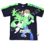เสื้อ สีดำ-เขียว ลาย Ben 10 Alien Force S