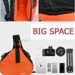 กระเป๋ากล้อง ถ่ายรูป เลนส์ CA004 CADEN K1 EXTRA ORANGE-BLACK