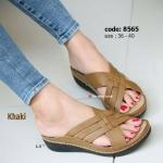 รองเท้าแฟชั่น งานลำลองที่ใส่สบายที่สุด ส้นเตารีด พื้น pu น้ำหนักเบาสวมสบายมากๆ แบบสวมเก็บหน้าเท้าและรักษาให้เท้าได้ทรงสวย ใส่ได้ทุกโอกาสกับความสูงเพียง 2 นิ้ว (8565)