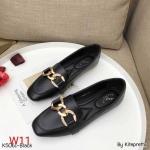รองเท้าคัทชู ส้นแบน แต่งโซ่ทองสวยเก๋มีสไตล์ ทรงสวย หนังนิ่ม พื้นนิ่ม ใส่สบาย แมทสวยได้ทุกชุด (K5061)