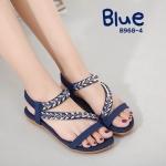 รองเท้าแตะแฟชั่น แบบสวม รัดส้น แต่งอะไหล่คลิสตัลสวยหรู รัดส้นยางยืดนิ่ม พื้นนิ่ม ใส่สบาย แมทสวยได้ทุกชุด (B968-4)