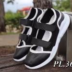 รองเท้าผ้าใบแฟชั่น ดีไซน์เก๋ตัดสีขอบ คาดเมจิกเทปด้านหน้า 2 ตอน ใส่ง่ายกระชับเท้า หนังนิ่มอย่างดี ใส่สบาย แมทสวยได้ทุกชุด