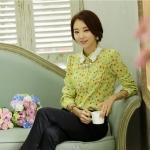 **พรีออเดอร์** เสื้อเชิ้ตทำงานแฟชั่นเกาหลี สีเขียว แขนยาว / **Preorder** Women Korean Hitz Slim Chiffon Long-sleeved Female Shirt