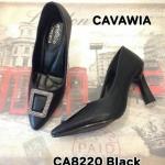 รองเท้าคัทชู ส้นสูง สวยหรู แต่งอะไหล่เพชรด้านหน้า ส้นเหลี่ยมเพิ่มความ เก๋ พื้นบุนิ่ม ใส่สบาย แมทสวยได้ทุกชุด สูงประมาณ 3 นิ้ว (CA8220)