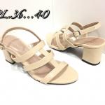 รองเท้าแฟชั่น ส้นสูง รัดส้น แบบสวมคาดแถบเส้นเก็บเท้า เรียบเก๋ดูดี ทรงสวย ส้นสูงประมาณ 2.5 นิ้ว ใส่สบาย แมทสวยได้ทุกชุด