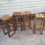 เก้าอี้บาร์หัวโล้นไม้ประสาน