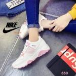 รองเท้าผ้าใบแฟชั่น สวยเก๋ แต่งลายสไตล์แบรนด์ วัสดุอย่างดี เสริมส้นประมาณ 1.5 นิ้ว ใส่ เที่ยว ออกกำลังกาย แมทได้ทุกชุด (605)