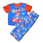 ชุดนอน สีน้ำเงิน-แดง ลาย Mario Kart 4T