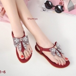 รองเท้าแตะแฟชั่น แบบหนีบ รัดส้น แต่งโบว์ประดับคลิสตัลสวยน่ารัก รัดส้นยางยืดนิ่มกระชับเท้า พื้นนิ่ม ใส่สบาย แมทสวยได้ทุกชุด (B381-6)