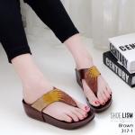 รองเท้าแตะแฟชั่น แบบหนีบ แต่งเพชรคลิสตัลสีไล่โทนสวยหรู พื้นซอฟคอมฟอตนิ่มสไตล์ฟิตฟลอบ ใส่สบายมาก แมทสวยได้ทุกชุด (317-1)
