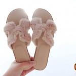 รองเท้าแตะแฟชั่น หน้า H สไตล์แอร์เมส แต่งขนเฟอร์ฟุนุ่มสวยน่ารัก ทรงสวย ใส่สบาย แมทสวยได้ทุกชุด (GS25)
