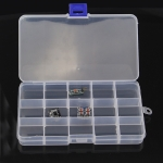 Accessories Tool Container Case 15 Compartment Plastic Storage Box