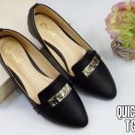 รองเท้าคัทชู ส้นแบน แต่งอะไหล่สวยเก๋สไตล์แบรนด์ หนังนิ่ม ใส่สบาย แมทสวยได้ทุกชุด (TG963)