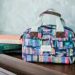 กระเป๋าแฟชั่น SWEET LEMON สวยน่ารักวินเทจ ผลิตจากผ้า Cotton-Polyester/Canvas เคลือบด้านกันน้ำ 100% สามารถทำ Size : 13 x 26 x 18 cm