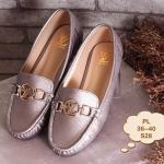 รองเท้าคัทชู ทรง loafer แต่งอะไหล่ LV สไตล์แบรนด์สวยเรียบหรู หนังนิ่มอย่างดี ใส่สบาย แมทสวยได้ทุกชุด (S28)