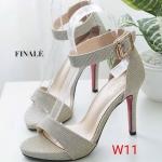 รองเท้าแฟชั่น ส้นสูง รัดข้อ ทรงสวย หนังนิ่ม ใส่สบาย ส้นสูงประมาณ 4 นิ้ว แมทสวยได้ทุกชุด