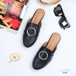 รองเท้าคัทชู เปิดส้น สวยเก๋ แต่งอะไหล่เก๋ด้านหน้า ทรงสวยเก็บเท้า ใส่สบาย แมทสวยได้ทุกชุด (G33-06)