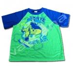 เสื้อ สีเขียว-น้ำเงิน ลาย Skate 12T