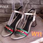 รองเท้าแฟชั่น ส้นสูง รัดส้น สวยเก๋ แต่งแถบสีอะไหล่ทองสไตล์กุชชี่ ส้นตัด ใส่สบาย สูงประมาณ 3 นิ้ว แมทชุดเก๋ได้ทุกชุด (FT-352)