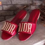 รองเท้าแตะแฟชั่น แบบสวม แต่งอะไหล่สไตล์ดิออร์ หนังนิ่ม ใส่สบาย แมทสวยได้ทุกชุด