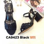 รองเท้าแฟชั่น ส้นสูง รัดส้น แบบสวม ฉลุลายลูกไม้สวยหวาน ส้นสูงประมาณ 2.5 นิ้ว ใส่สบาย แมทสวยได้ทุกชุด (CA9423)