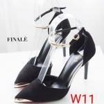 รองเท้าคัทชู ส้นสูง รัดข้อ แต่งอะไหล่ทองสายรัดข้อและด้านหน้าสวยหรู ทรงสวย ส้นสูงประมาณ 4 นิ้ว แมทสวยได้ทุกชุด