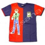 เสื้อ สีน้ำเงิน-แดง ลาย Ben 10 Alien Force M