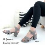 รองเท้าแฟชั่น ส้นสูง แบบสวมหน้าไขว้เก็บทรงเท้า รัดข้อแต่งเข็มขัดสวยเก๋ ทรงสวย คลาสสิค ส้นตัดสูงประมาณ 2.5 นิ้ว เดินง่าย แมทเก๋ได้ทุกชุด (G12-49)