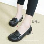 รองเท้าคัทชู สไตล์เพื่อสุขภาพ Buddle Fitness Shoes เอาใจสาววัยทำงาน ที่ชอบแนวหวาน ด้วยคัทชูแต่งโบว์ผูกด้านข้าง ความโดดเด่นอยู่ตรงความโค้ง มนเข้ากับสรีระหน้าเท้าของคุณ ความสูงเดินสบาย 1 นิ้ว แมทง่ายกับทุกชุดสวย ที่คุณมี สีดำ (9146)