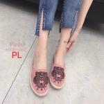 รองเท้าคัทชู เปิดส้น แต่งลายปักหน้าเสือสวยเก๋สไตล์เคนโซ่ ส้นแต่งขอบเชือกถัก หนังนิ่ม ทรงสวย ใส่สบาย แมทสวยได้ทุกชุด (H319-1267)