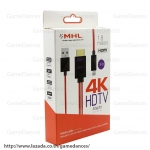 MHL 3242 สายแปลง MHL Micro USB (11Pin) to HDMI 4K Adapter Cable for Samsung Galaxy S3/S4/S5/Note2/Note3/Note4
