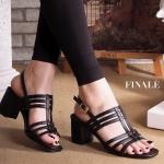 รองเท้าแฟชั่น ส้นสูง รัดส้น แบบสวม คาดหน้าดีไซน์เส้นสวยเก๋เก็บหน้าเท้าเรียว รัดส้น ตะขอเกี่ยว ใส่ง่าย ส้นตัดสูงประมาณ 2.5 นิ้ว ใส่สบาย แมทสวยได้ทุกชุด