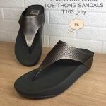 รองเท้าแตะแฟชั่น เพื่อสุขภาพ แบบหนีบ หนังเงาสวยเก๋ พื้นซอฟคอมฟอตนิ่มสไตล์ฟิตฟลอบ ใส่สบาย แมทสวยได้ทุกชุด (T103)