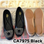 รองเท้าคัทชู ส้นแบน ทรงสวย แต่งอะไหล่เพชรสวยหรู พื้นนิ่ม ใส่สบาย แมทสวยได้ทุกชุด (CA7975)