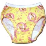 กางเกงในเด็กหญิง สีเหลือง ลาย Princess กับโบว์ 2T