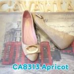 รองเท้าคัทชู ส้นเตี้ย สวยหรู หนังนิ่มอย่างดี เย็บลายปักรอบตัวสวยเก๋ ด้านหน้าแต่ง อะไหล่ทอง ส้นสูงประมาณ 1.5 นิ้ว พื้นบุนิ่ม ใส่สบาย แมทสวยได้ทุกชุด (CA8313)