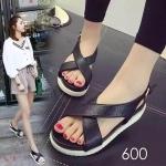 รองเท้าแฟชั่น ส้นเตารีด มัฟฟิน แบบสวมหน้าไขว์ รัดส้น สไตล์เกาหลีสวยเก๋ ใส่สบาย แมทสวยได้ทุกชุด (D-2)