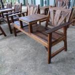 เก้าอี้สองเกลอ ไม้ลาย