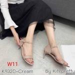 รองเท้าแฟชั่น รัดส้น หนังสักหราดแต่งระบายด้านหลังสวยเก๋น่ารัก ทรงสวย หนังนิ่ม ส้นสูงประมาณ 2.5 นิ้ว ใส่สบาย แมทสวยได้ทุกชุด (K9320)