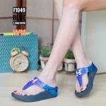 รองเท้าแตะแฟชั่น แบบหนีบ แต่งเพชรสีทูโทนลาย H สวยหรู พื้นซอฟคอมฟอตนิ่มสไตล์ฟิตฟลอบ ใส่สบายมาก แมทสวยได้ทุกชุด (F1049)