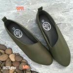 รองเท้าคัทชู ส้นแบน หนังนิ่ม ตัดเฉียงด้านหน้าสวยเก๋ ทรงสวยเก็บเท้า ใส่สบายมาก แมทสวยได้ทุกชุด (591219)