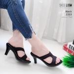 รองเท้าแฟชั่น ส้นสูง แบบสวม ดีไซน์เรียบเก๋ หนังนิ่ม พื้นบุนิ่ม ทรงสวย สูง 3.5 นิ้ว ใส่สบาย แมทสวยได้ทุกชุด (2333)
