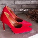 รองเท้าคัทชู ส้นสูง เรียบหรู หนังกำมะหยี่เงาสวยดูดี ทรงหัวแหลมเก็บเท้าเรียว ส้นเข็มสูง ประมาณ 3.5 นิ้ว ใส่สวยสง่าได้ทุกชุด