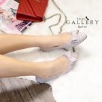 รองเท้าคัทชู ส้นแบน เรียบหรูน่ารัก แต่งโบว์ด้านหน้า ทรงสวยดูเท้าเรียว ใส่สวยดูดี แมท ได้ทุกชุด (G31-01)